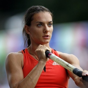 Real inspiration — Athletes not models—Yelena Isinbayeva: Pole Vaulting (@Janetha G [meals & moves] — her arms — and she definitely does handstands as a pole-vaulter!)