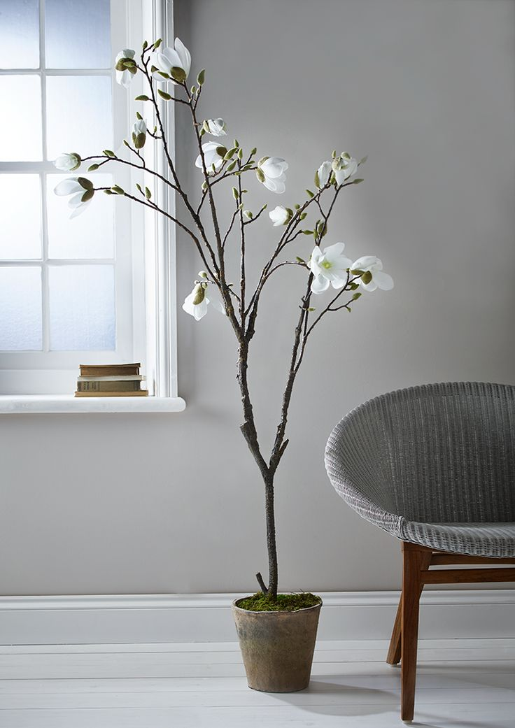 NEW Faux Potted Magnolia Tree