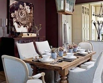 Through The French Eye Of Design EGGPLANT THE COLOR Dining Room
