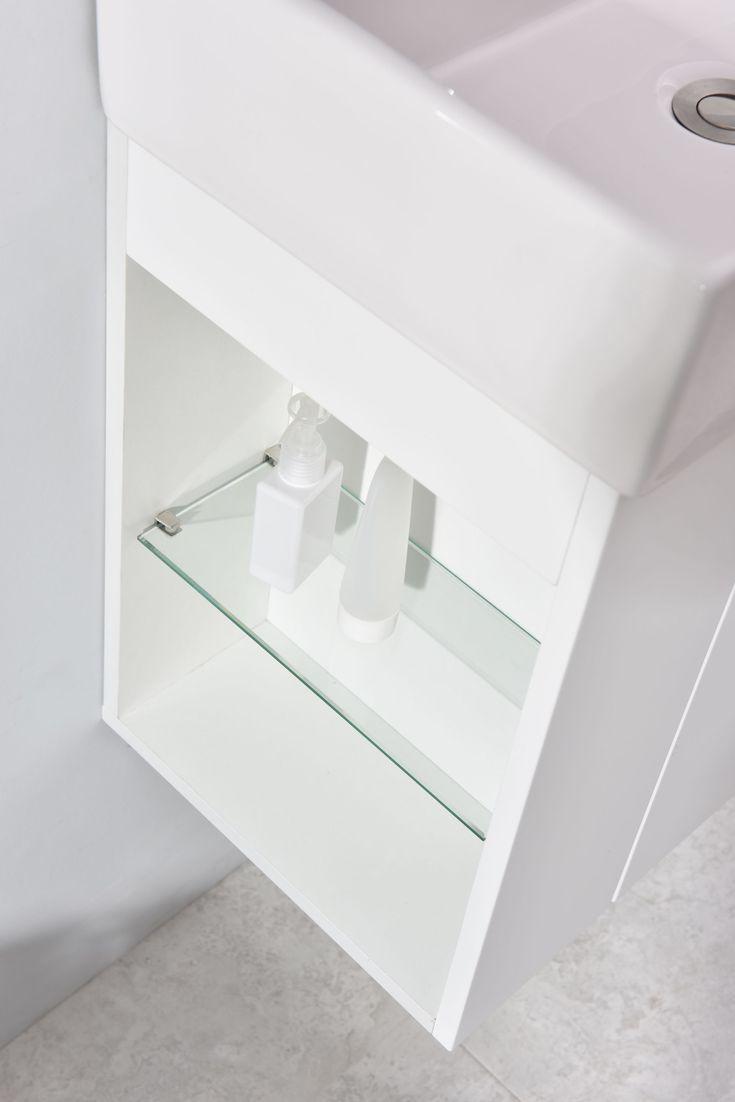 Pequeño mueble de baño Compact 500 - blanco mate | Muebles ...