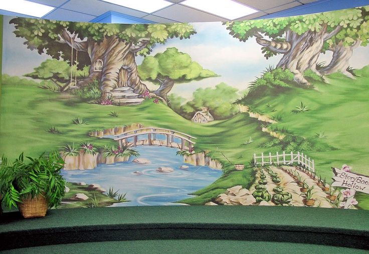 Mural In Children S Area At Valparaiso Community Library