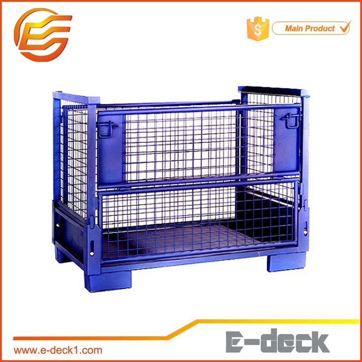 Powder Coated Stacking Wire Storage Cage for Auto Accessories Wire Box
