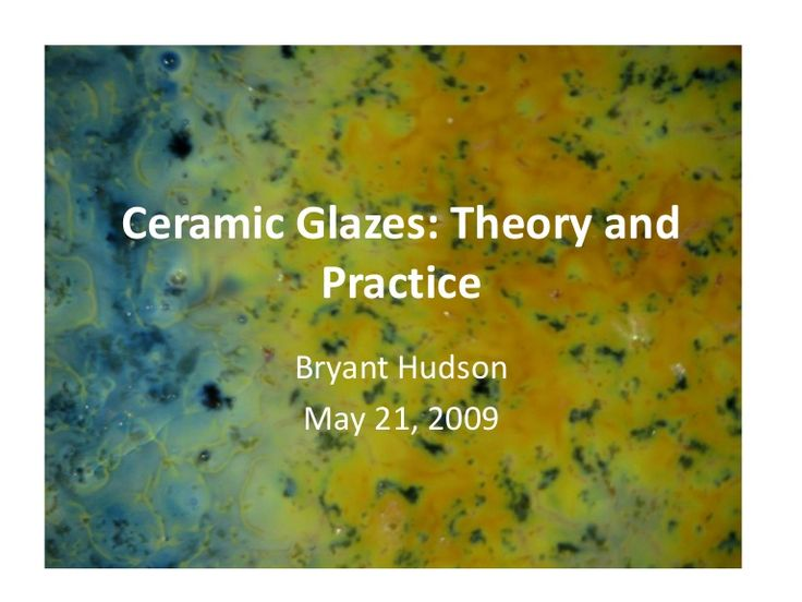 Bryant Hudson's Glaze 101 slideshow has in depth chemistry and magnified glaze pictures.