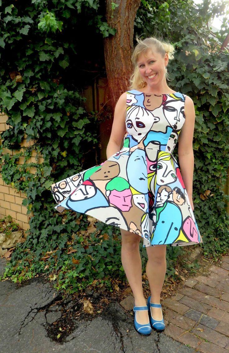 Create Hope Inspire: Simple Sew Ruby Dress IKEA fabric