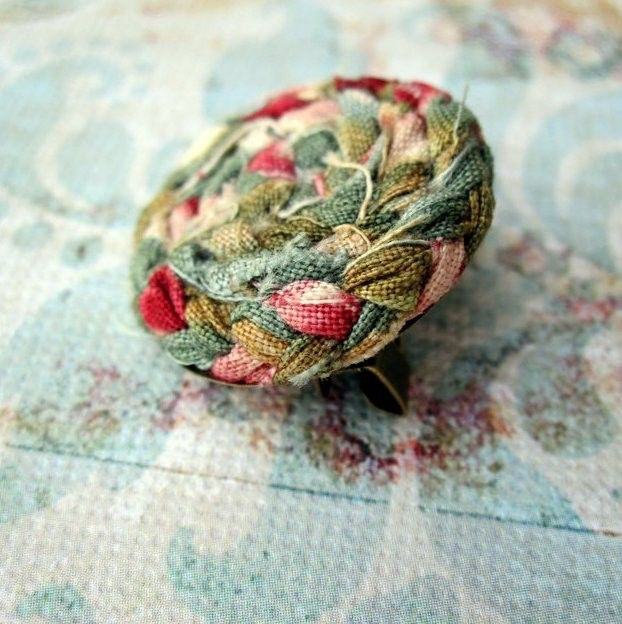 Rustic Fabric Rose Circle Brooch Pin in Rustic Duck Egg Blue, Cerise Pink & Moss by LittleLivingstone on Etsy https://www.etsy.com/listing/70799813/rustic-fabric-rose-circle-brooch-pin-in
