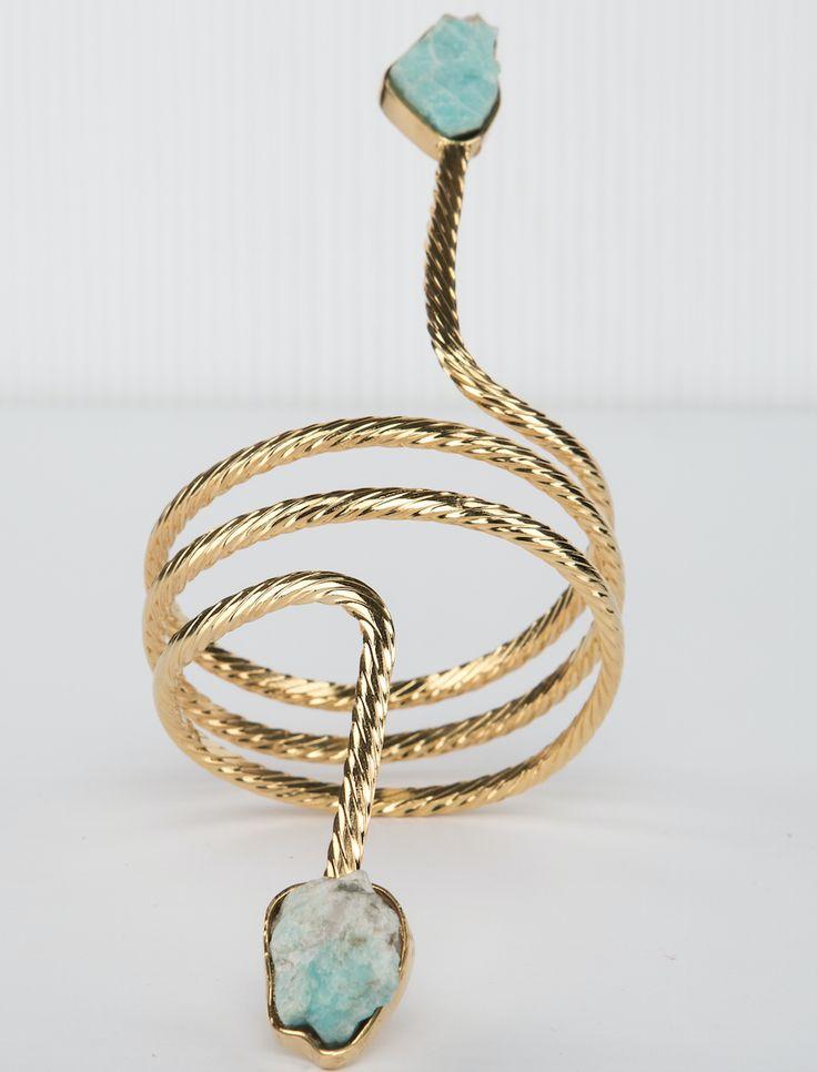 // Vergara Collection - Amazonite Spiral Bracelet - DANIELA SALCEDO