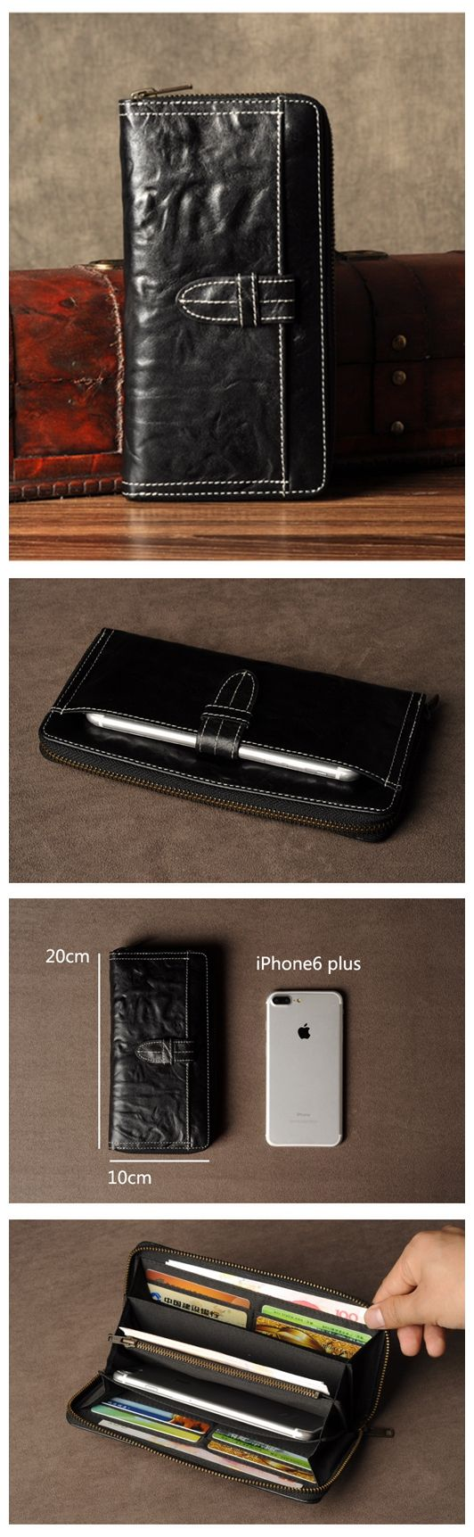 LEATHER WALLET,MENS LEATHER WALLET, LEATHER MONEY CLIP WALLET,HANDMADE LEATHER PHONE CASE GZ042