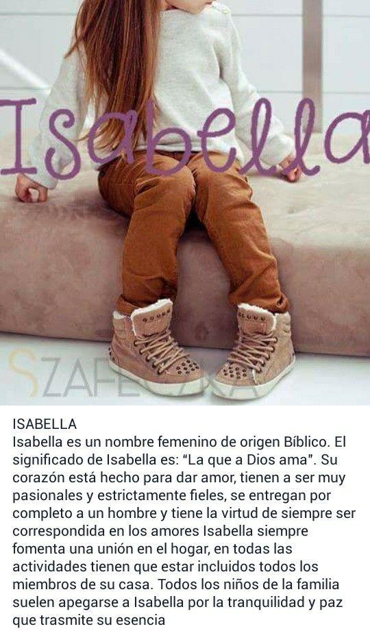 Nombres de niñas, significado del nombre Isabella