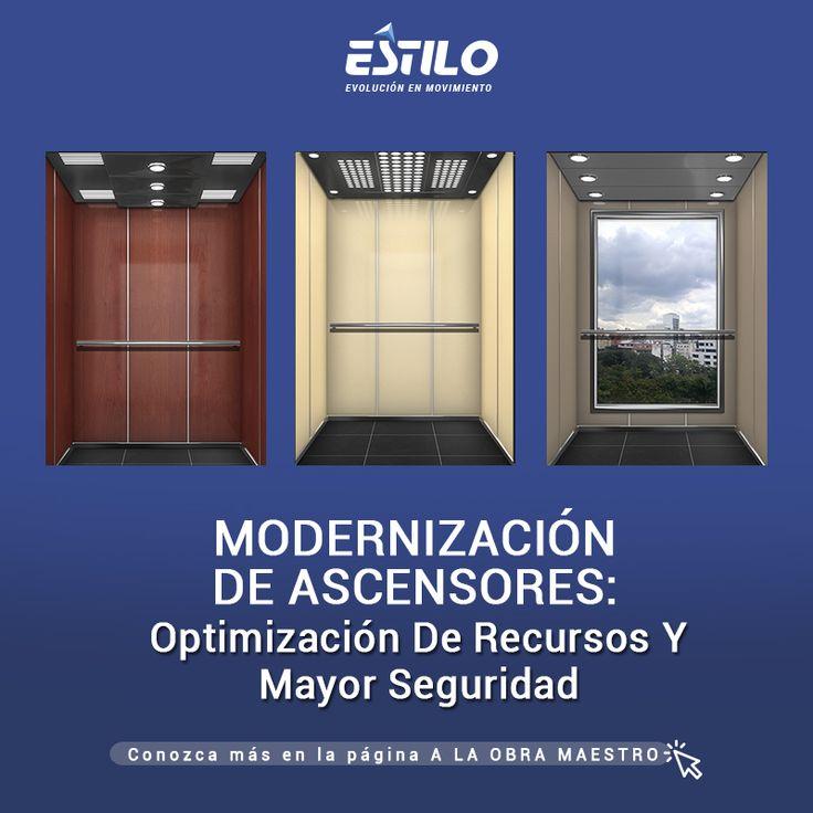 Como motivo principal para modernizar un ascensor debe preguntarse si está cumpliendo o no con la normativa vigente. Estilo Ingeniería se lo cuenta en: LINK NOTICIA: http://maestros.com.co/herramientas-y-equipos/modernizacion-ascensores-optimizacion-recursos-mayor-seguridad/