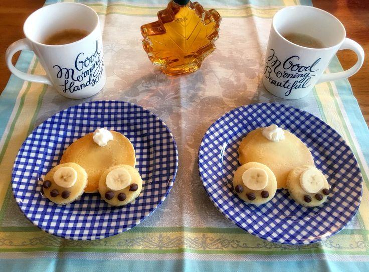 Hoppy Easter! Bunny Bum Pancakes :) @maggies.menu
