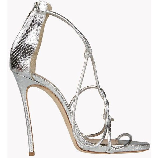 DSQUARED2 Little Dress Sandals ($990) ❤ liked on Polyvore featuring shoes, sandals, silver, silver sandals, dress sandals, dsquared2, silver shoes and silver dress sandals