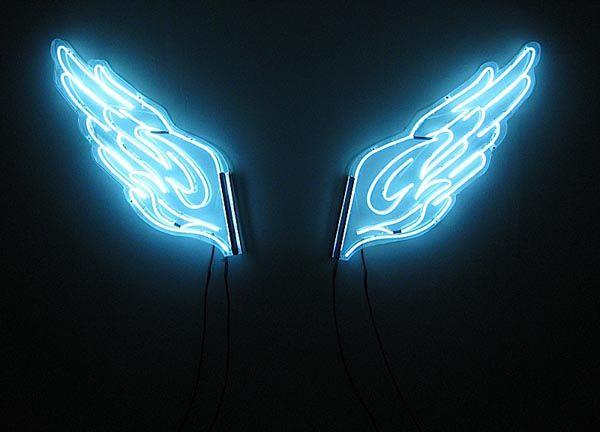 Angel wing neon by artist Kawayan de Guia