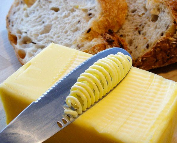 ButterUp Knife - The blade works like a cheese grater to aerate and ribbon the butter into an easily spreadable form.