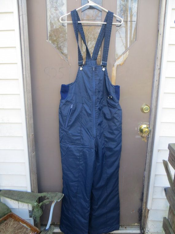 80's Ski  Skiing Pants bibs  Snow Overalls  by Linsvintageboutique
