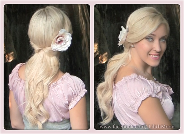Romantic flipped half up half down hairstyle with curls http://www.youtube.com/watch?v=YyLLROqdzWQ