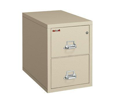 """FireKing Two-Drawer Fireproof Vertical File Cabinet, 31inch D, Legal Size, Dock-to-Dock Delivery by FireKing. $1749.99. Fireproof insulation is 100% gypsum, reinforced by 1"""" x 2"""" lattice made of 14-gauge, galvanized, we. Holds legal size documents. UL 1-hour fire protection with impact rating. High-security key lock ISO 9001 quality standard. Drawers accommodate standard or hanging files. FireKing 31inch Vertical files provide your important records with the protection you c..."""