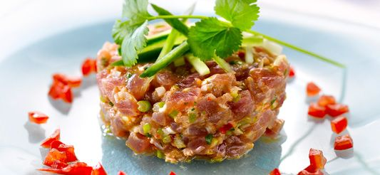 Delhaize - Tonijntartaar met Thaise smaken