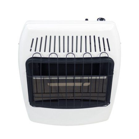 Dyna-Glo BF20NMDG 20,000 BTU Blue Flame Natural Gas Vent Free Wall Heater, White