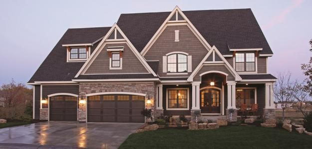 new home exterior color schemes | Two Tone Exteriors | Parade of Homes
