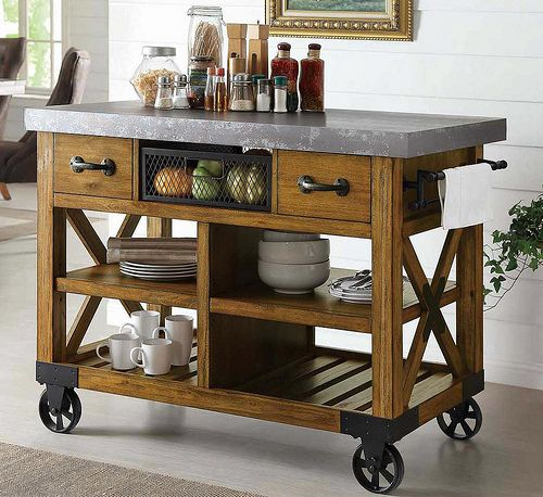 Bentley Industrial Metal And Wood Wheeled Kitchen Serving: 17 Best Ideas About Kitchen Carts On Wheels On Pinterest