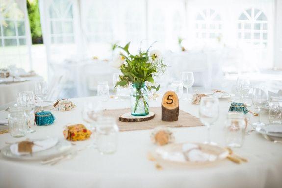 DIY peças centrais do casamento de madeira virgínia