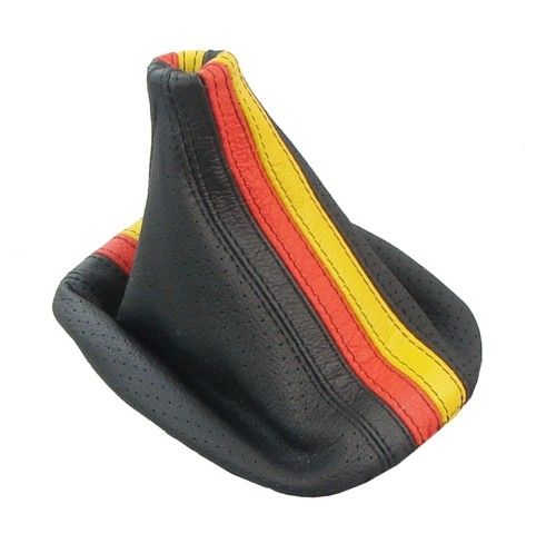 VW Golf Jetta Italian Leather Shift Boot Gaiter German Flag GTI Gli R32 MK4 New | eBay