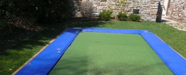 how to put a regular trampoline in the ground