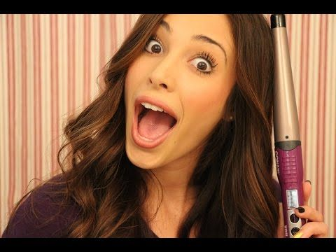 "How To Curl Your Hair Using The Conair Wand .75"" - 1.25"" With Sierra Dallas - YouTube"