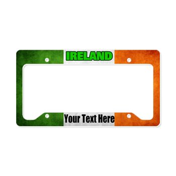 Celebrate your Irish pride, and the flag of Ireland on this license plate frame. Personalize and add custom text.
