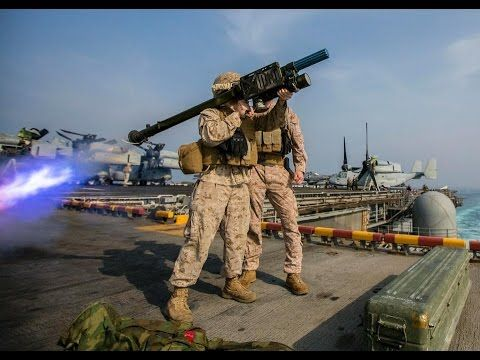 US Marines Training to Fire FIM-92 Stinger on a Boat With Simulator Laun...