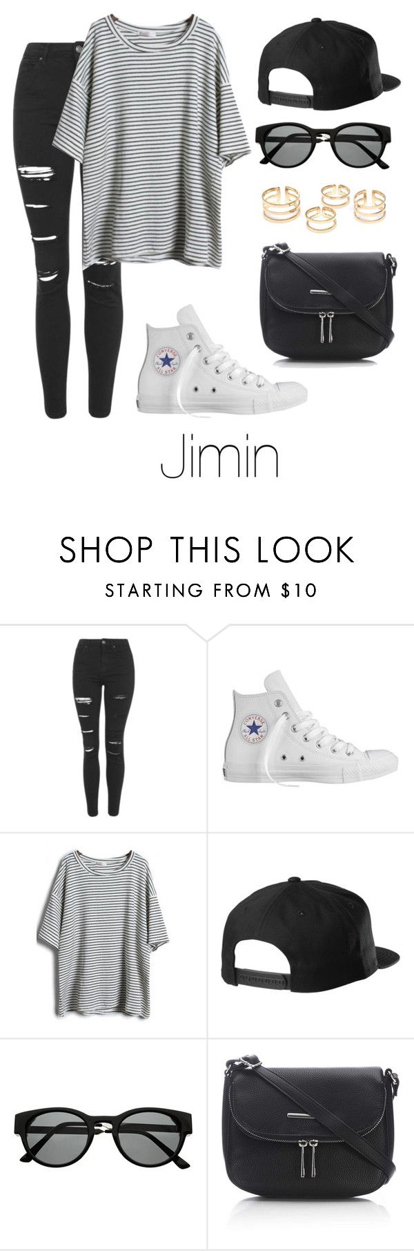 Jimin Inspired w/ Converse by btsoutfits on Polyvore featuring Topshop, Converse, Wallis and Retrò