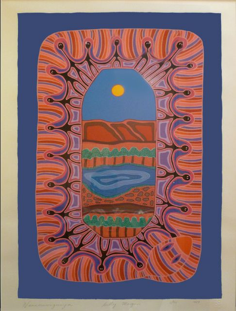 Sally Morgan, Wannamurraganya Edition: 5 95 Medium: Screen print Size: 80x106cm Year: 1989