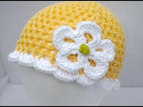 Hướng dẫn cách móc mũ len cho bé gái đơn giản