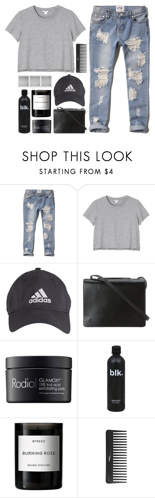 """""""Can't Take My Eyes Off Of You"""" by kara-burke ❤ liked on Polyvore featuring Abercrombie & Fitch, Monki, adidas, BCBGMAXAZRIA, Rodial, Holga, Byredo and Sephora Collection"""