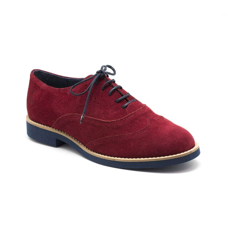 Red Suede Oxford Shoes | El Ganso Online Store