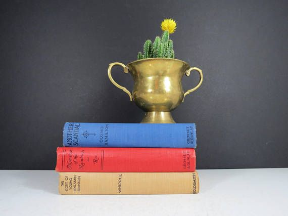 Small Brass Trophy Cup // Vintage Trophy Style Loving Cup