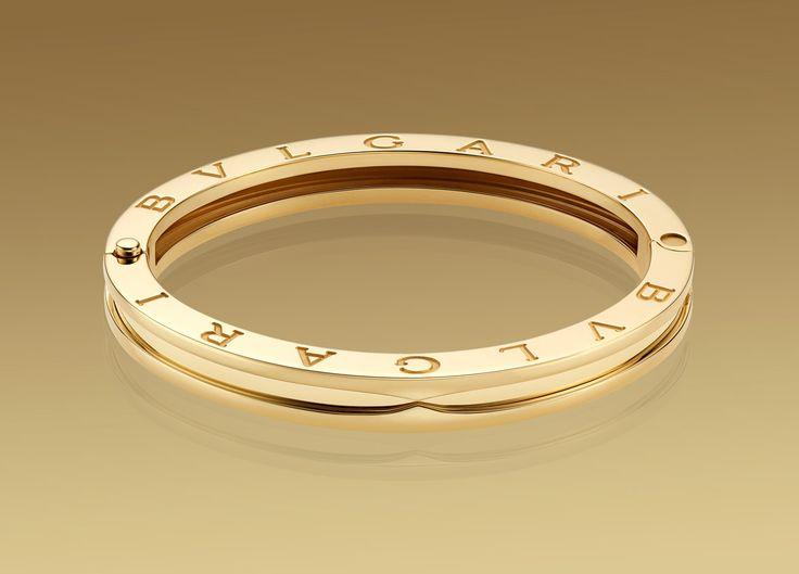 bzero1 bracelet in 18kt yellow gold