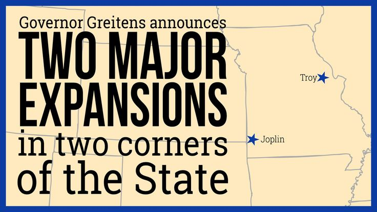 JEFFERSON CITY, Mo. July 27, 2017 (STL.NEWS)—Business expansions: Today, Governor Eric Greitens announced that two Missouri companies operating in the state's robust food and beverage industry will embark on business expansions in their respect...