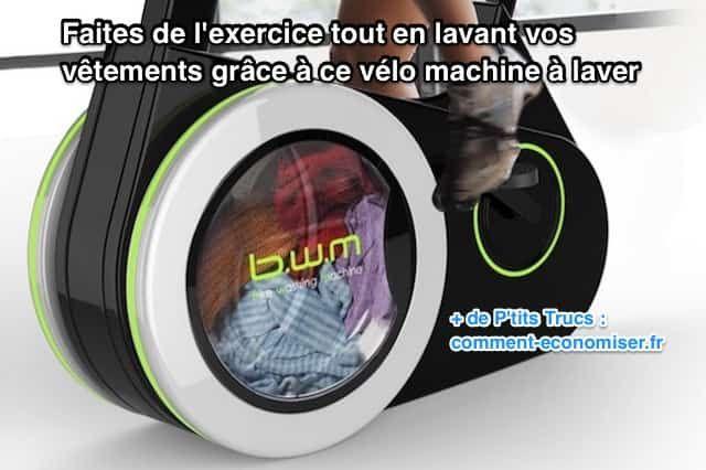 Le Bike Washing Machine (BWM) est le 1er vélo machine à laver ! Avec son look épuré, ce vélo d'appartement qui fait aussi machine à laver a un fonctionnement très simple. Regardez :-)  Découvrez l'astuce ici : http://www.comment-economiser.fr/velo-machine-a-laver-sport-economies.html?utm_content=buffer574a1&utm_medium=social&utm_source=pinterest.com&utm_campaign=buffer