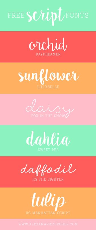 Free Script Fonts from He & I blog