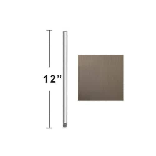 Concord DR-12 12 Downrod for 10 Ft Ceilings (Stainless Steel (Silver))