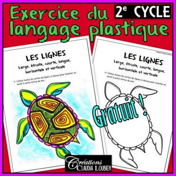 Exercice langage plastique, lignes : 2e cycle