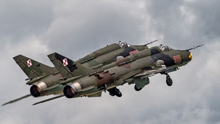 Polish Air Force Su-22 during take off