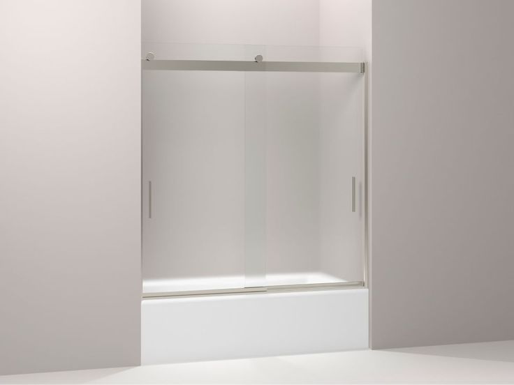 Sliding Bath Door 62 Inch H X 56 5 8 59 5 8 Inch W With 1 4 Inch Thick Frosted Glass In 2019 Shower Doors Bathtub Doors Shower Tub