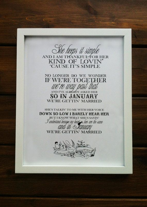 "Avett Brothers ""January Wedding"" Print, with couple's names & wedding date"