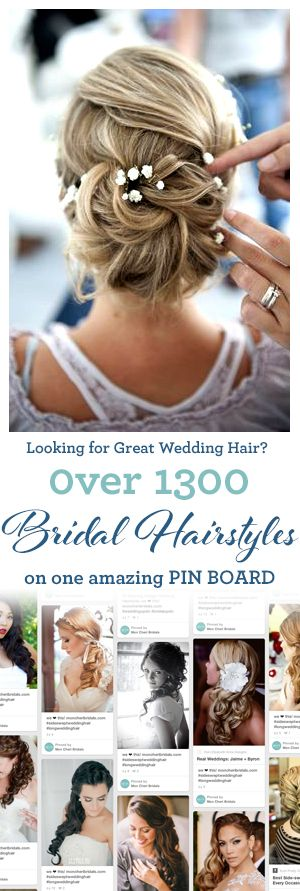 Looking for Wedding Hair Inspiration? Be sure to follow our Bridal Hairstyles board!