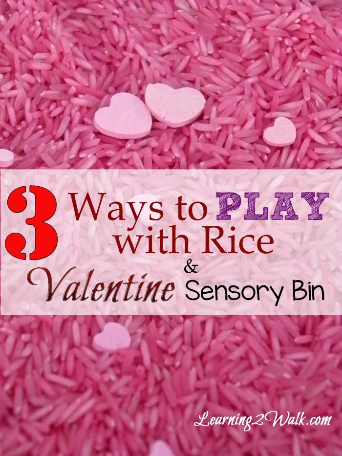 Preschool Sensory Activities: 3 Ways to Use Rice as well as a valentine sensory bin