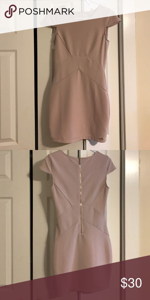 Medium Body-con Guess Dress - worn once ! Soft Pink cap sleeved body-con Guess dress with back zipper Guess Dresses