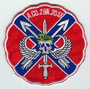 20th Special Forces Group Pocket Patches A Company, 2nd Battalion