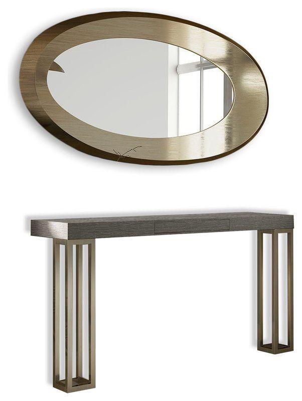 Most Comfortable Saybrook Console Table And Mirror Set By Brayden Studio Mirror Set Metal Console Table Console Table